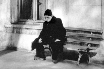 gurdjieff sitting on bench