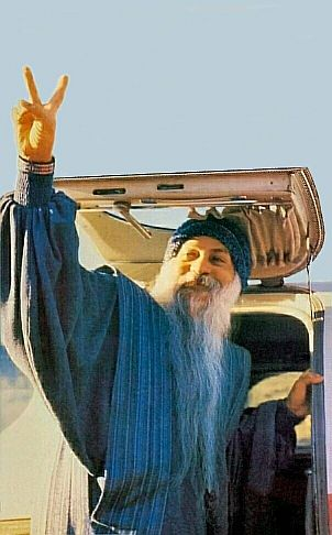 osho boarding his plane