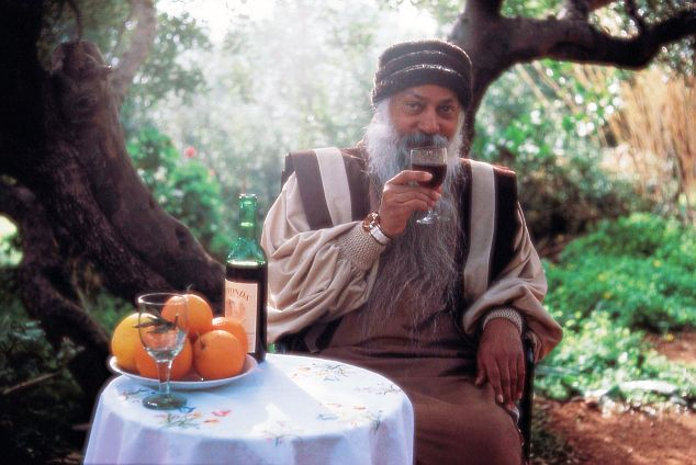 osho drinking wine